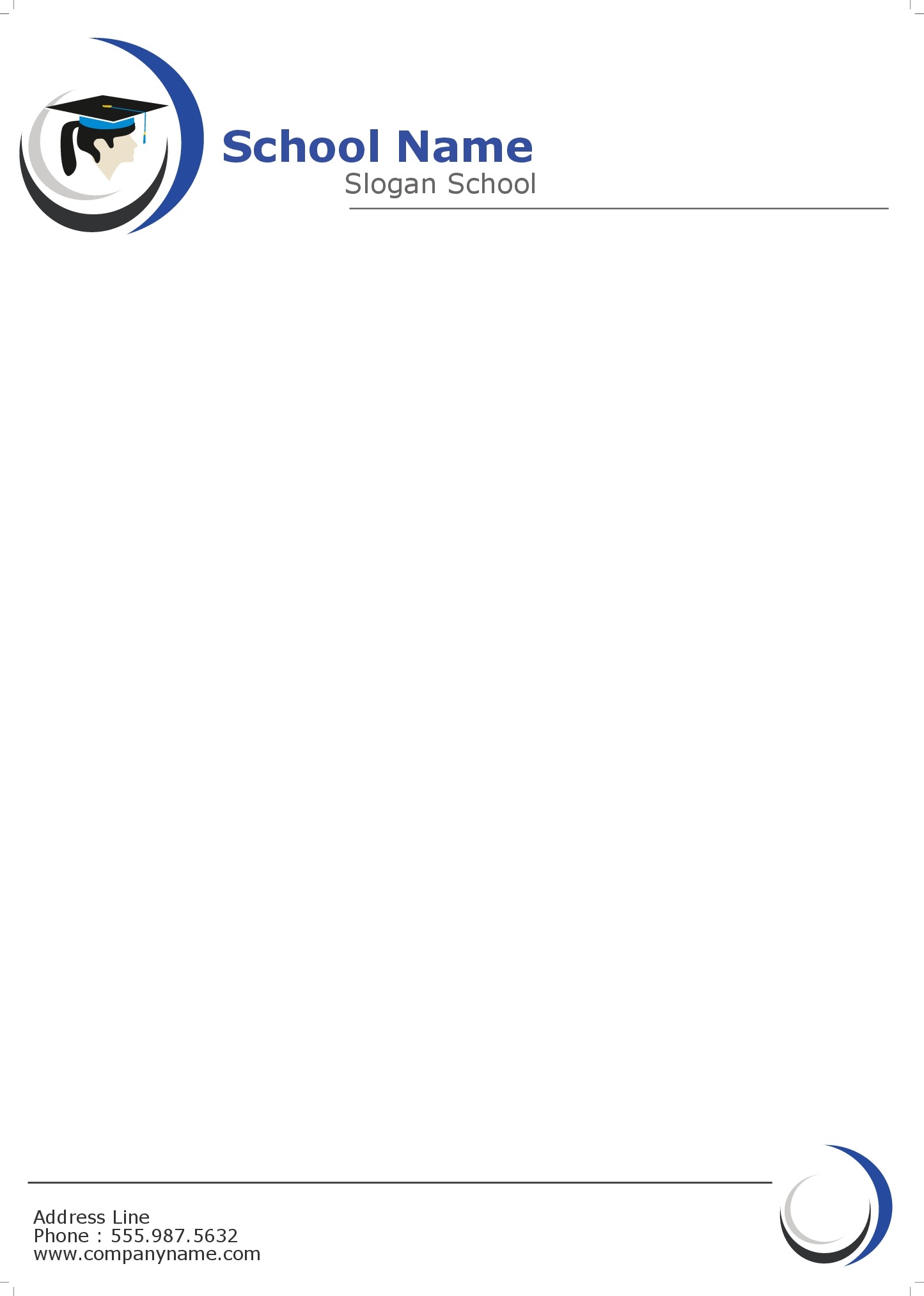 Professional business letterhead printing houston tx free shipping school letterhead 2 spiritdancerdesigns Gallery