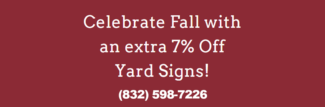 Fall Yard Sign Sale