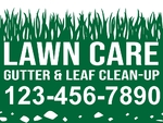 Lawn Care Grass Sign
