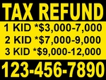 TAX REFUND 1 color YELLOW