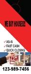 WE BUY HOUSES AS IS FASH CASH