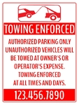 Towing Enforced 18x24