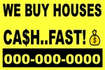 We Buy Houses ( Pay For Yellow Plastic)