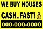 We Buy Houses (Yellow Plastic)