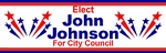 Political sign with shooting stars 10x3