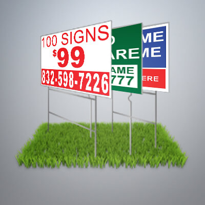 Dirt Cheap Yard Signs, 9in x24in, 12in x 18in, 18in x 24in