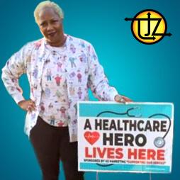Free Healthcare Hero Yard Sign