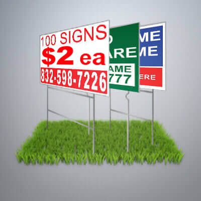 Yard signs for Lawn Care, Pressure Washing, and Other Service Professionals