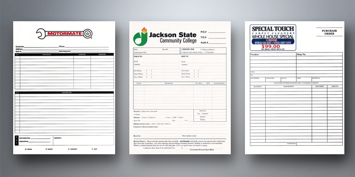 Full color carbonless ncr form printing houston tx for Ncr label templates