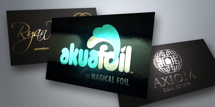 Foil stamped cards flyer printing houston tx free shipping akuafoil reheart Images