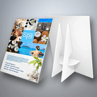 Counter display cards with stand