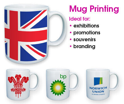 Custom made Mugs for home, office and small business promotion
